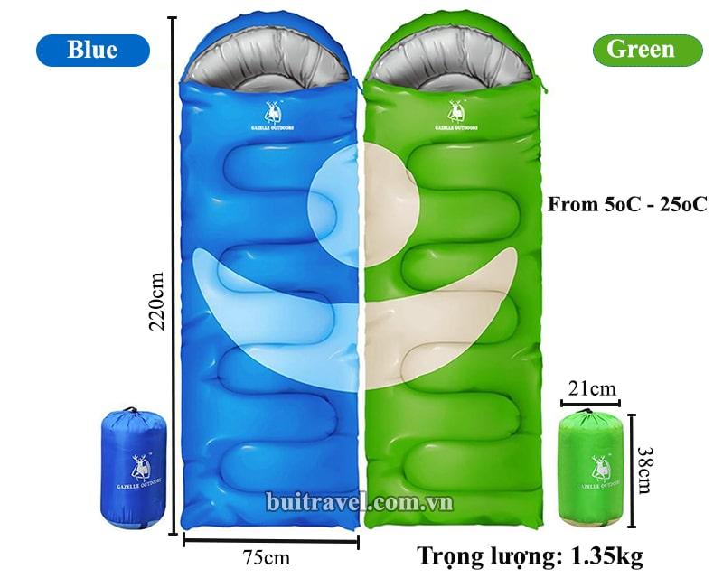 Thông số túi ngủ văn phòng cá nhân đa năng GL3111
