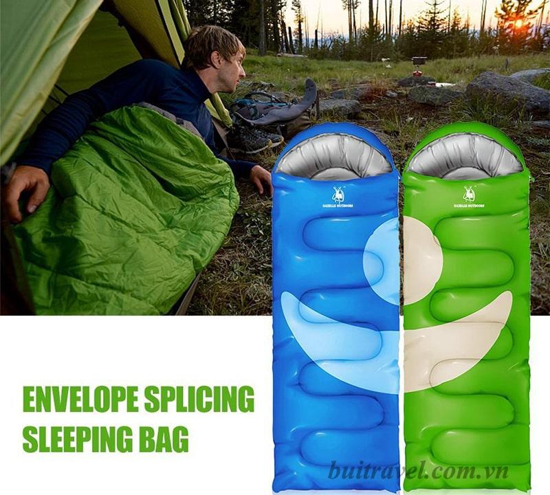 Túi ngủ đơn đi phượt, du lịch đa năng Gazelle Outdoors